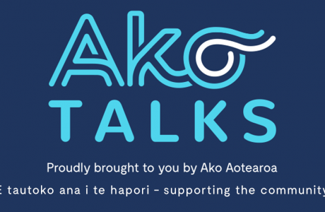 Ako Talks logo and tagline for website