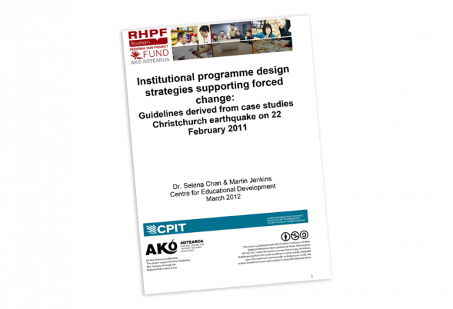 Institutional programme design cover
