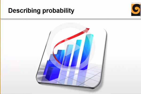 Describing probability cover image