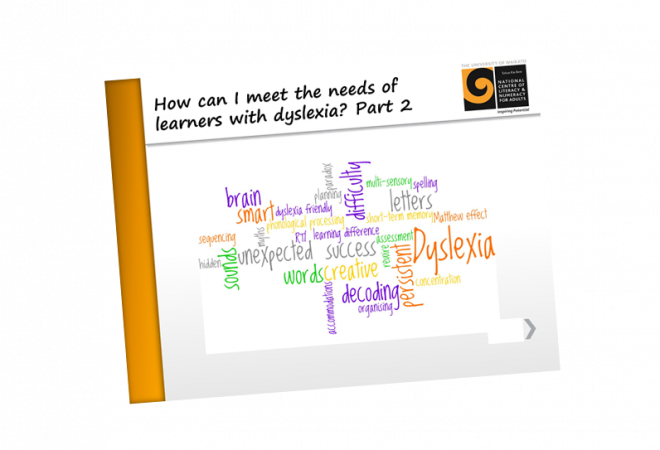 Dyslexia How can I meet the needs of learners with dyslexia part 2