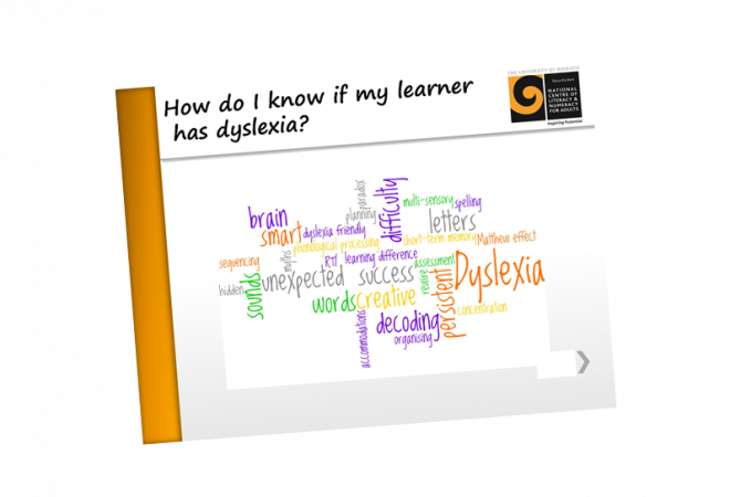 Dyslexia How do I know if my learner has dyslexia