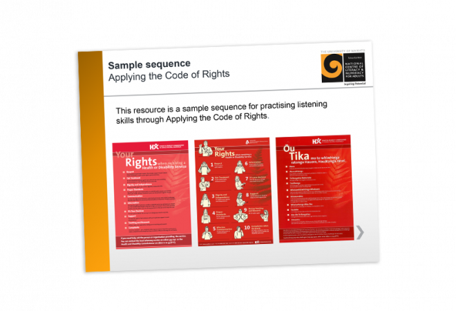 Applying the code of rights sample sequence