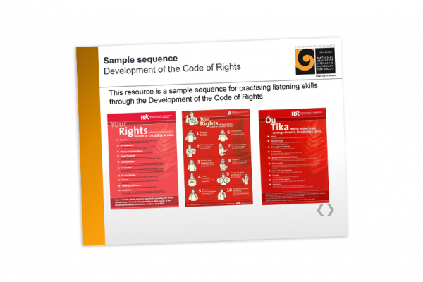 Development of the code of rights sample sequence
