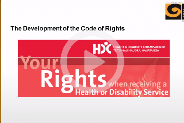 Development of the code of rights video