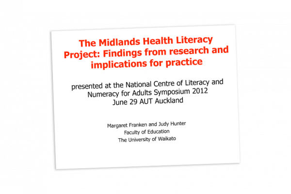Midlands health literacy project