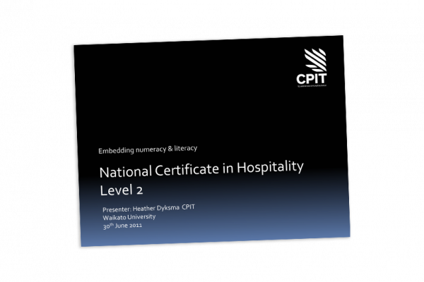 Certificate in hospitality level 2 cover image