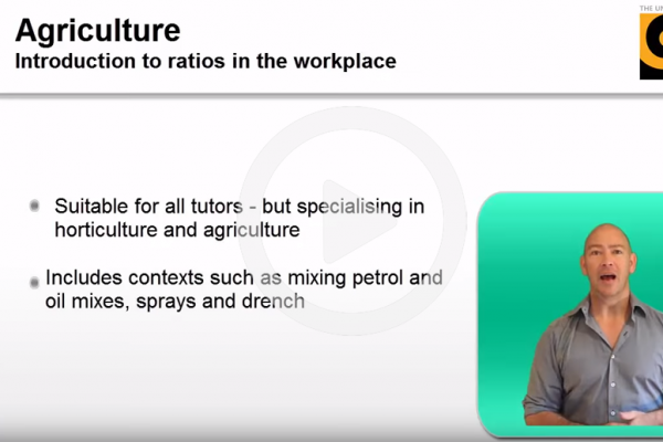 Agriculture introduction to ratios in the workplace