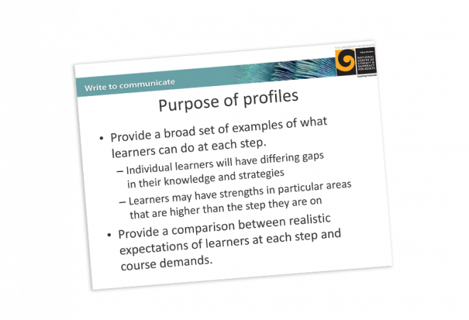 Educator Material Writing learner profiles