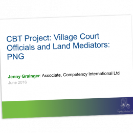 CBT project Village Court Officials and Land Mediators cover image