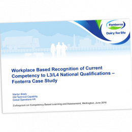 Workplace based recognition of current competence cover image