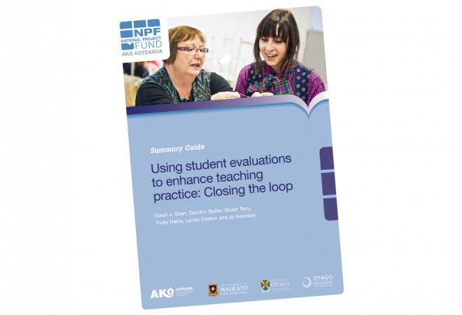 SUMMARY GUIDE Using student evaluations to enhance teaching practice closing the loop