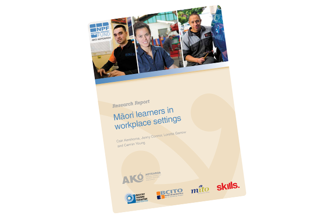 NPF 10 003 Maori learners in workplace settings full report cover