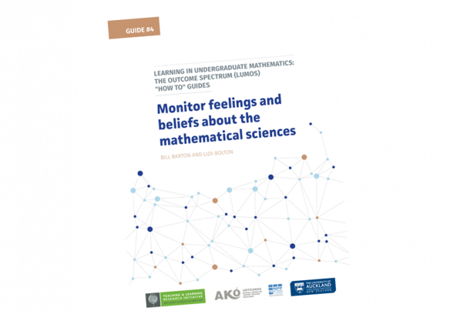 GUIDE 4 How to monitor feelings and beliefs about the mathematical sciences