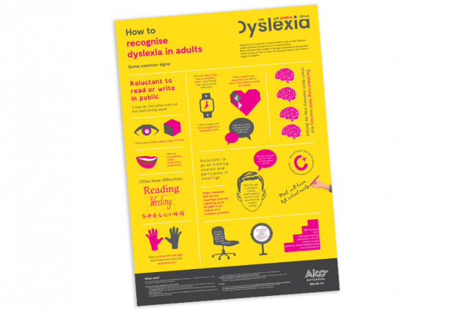 POSTER How to recognise dyslexia in adults