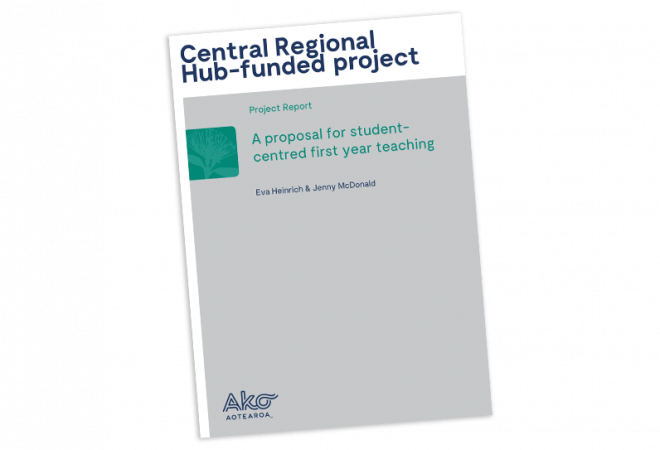 REPORT A proposal for student centred first year university teaching