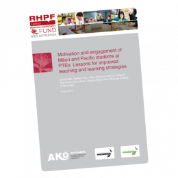 REPORT Research on Motivation and Engagement of Maori and Pacific students