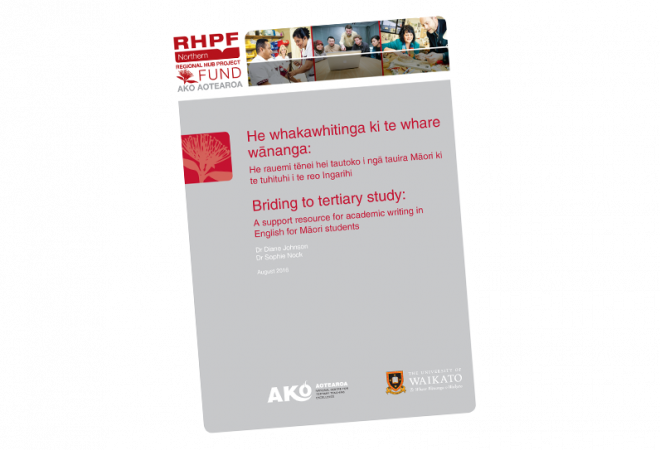 d1022d3e5f RESEARCH REPORT Bridging to tertiary study A support resource for academic writing  in English for Maori