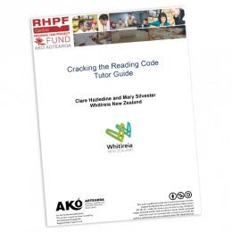 TUTOR GUIDE Cracking the Reading Code