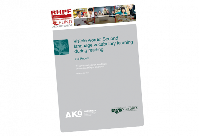 RESEARCH REPORT Visible Words Second Language Vocabulary Learning During Reading