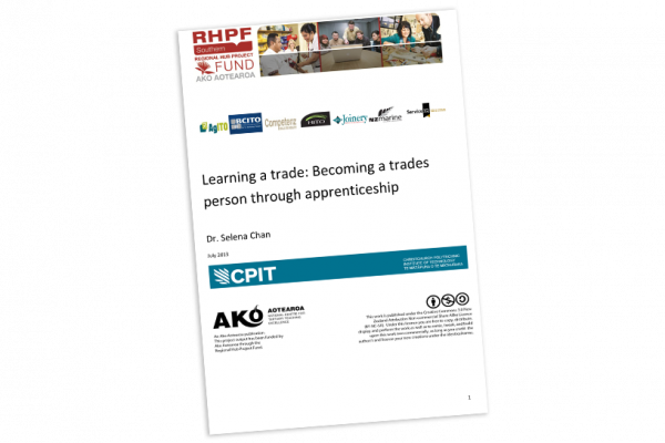 RESEARCH REPORT Learning a Trade Becoming a Trades Person through Apprenticeship