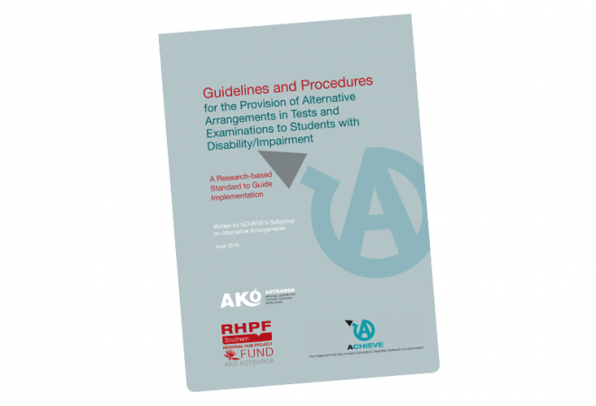 Guidelines and Procedures for Provision of Alternative Arrangements to Students with disability