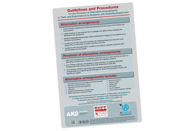 POSTER Guidelines and Procedures for Provision of Alternative Arrangements to Students with disability