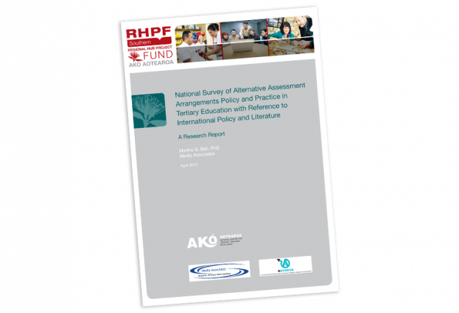 RESEARCH REPORT National Survey of Alternative Assessment Arrangements Policy and Practice
