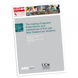 RESEARCH REPORT The Making of Lawyers Expectations and Experiences of First Year New Zealand Law Students