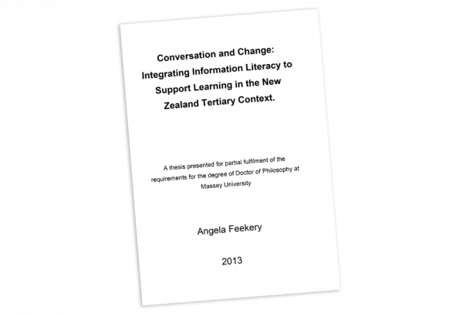 THESIS Integrating Information Literacy to Support Learning in the New Zealand Tertiary Context