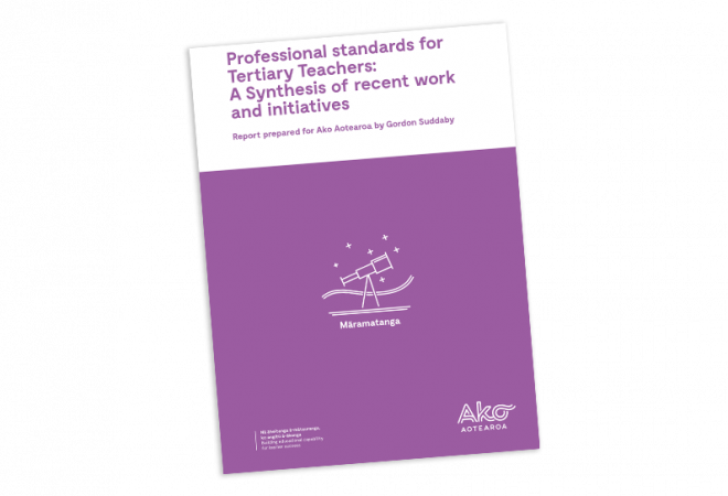 SYNTHESIS REPORT Professional standards for Tertiary Teachers